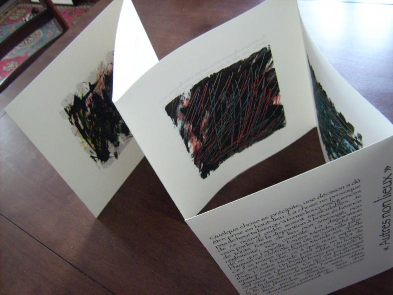 L'ouvrage tiré à 50 ex. Textes de D. HAUGUEL œuvre d'Argatti