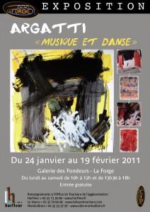 """Affiche exposition """"LA FORGE """" HARFLEUR"""